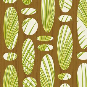Tiki Screen with Wild Grasses