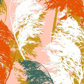 Pampas Breeze - Blush Multi Large Scale