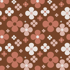 Flower Power - brown 2