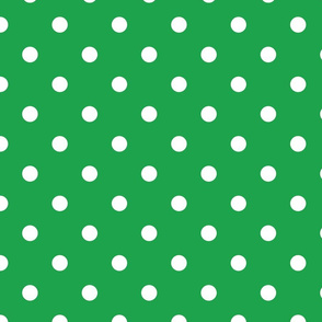 Green With White Polka Dots - Large (Watermelon Collection)