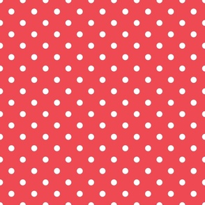 Pink With White Polka Dots - Medium (Watermelon Collection)