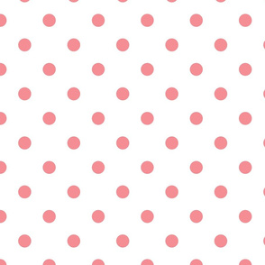 Light Pink Polka Dots - Large (Watermelon Collection)