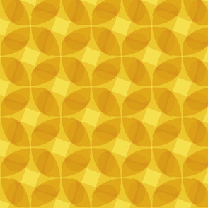 Paisleys in yellow, multiplied