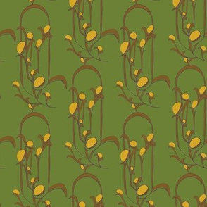 Art Decor Stylized Floral in yellow/green