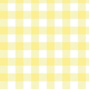 Gingham Pastel Yellow