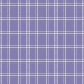 Lined Linens - Quad Plaid - Ivory, Lavender (Healing Herbs)