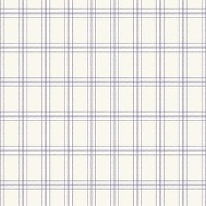 Lined Linens - Quad Plaid-Lavender, Ivory (Healing Herbs)