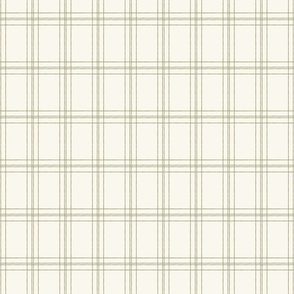 Lined Linens - Quad Plaid-Olive, Ivory (Healing Herbs)
