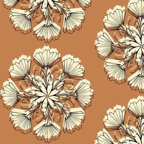 Radial Vintage Floral_ Muted Palette