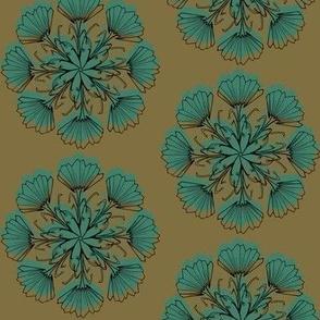 Radial Vintage Floral-earthy