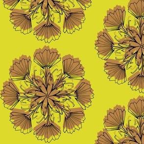 Radial Vintage Floral-Bright Retro