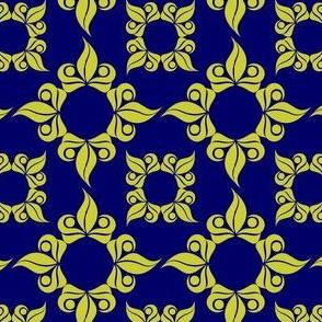 Blue Royal Leaves