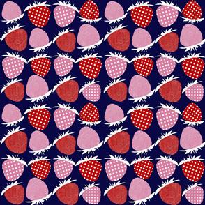 Sixties Strawberry Print Medium