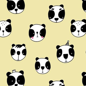 Panda party yellow