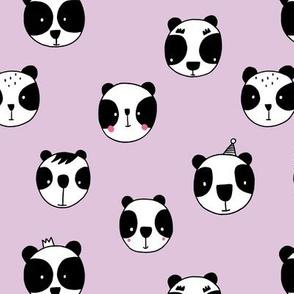 Panda face lilac