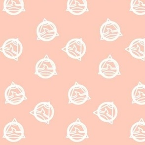 Geo Triangles on Blush Pink