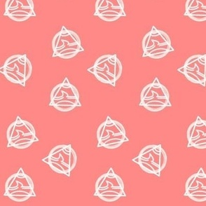 Geo Triangles on Bright Pink