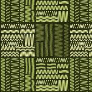 Squiggly Lines // Dark Green