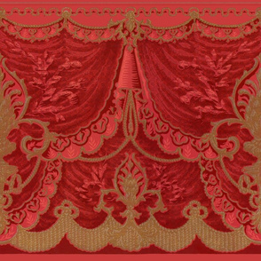 Bernhardt Swag Frieze ~ Original Red
