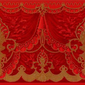 Bernhardt Swag Frieze ~ Vivid Red