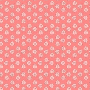 Tiny Geo Triangles on Bright Pink