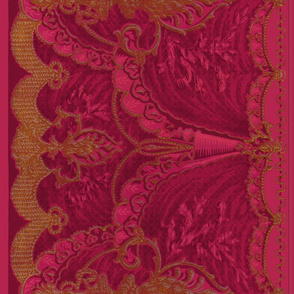 Bernhardt Swag Border Frieze ~ Magenta