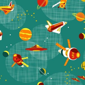 space adventures teal-red