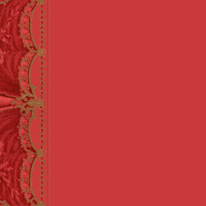 Bernhardt Swag Border Print ~ Original Red