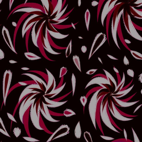 Sommer Blooms Red & Black