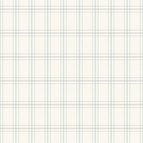 Lined Linens - Quad Plaid - Blue, Ivory (Bees and Lemons)