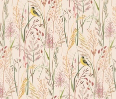 GRASSES AND GOLDFINCH