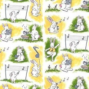 Rabbit Notes In A Grassy Park
