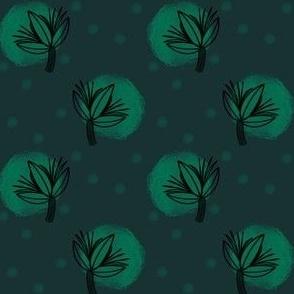 Dotted Plant - Dark Green