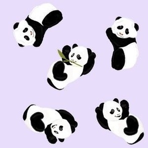 Snack Time Panda - Pale Purple