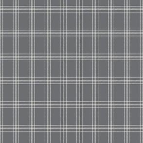Lined Linens - Quad Plaid - Ivory, Grey (K70)