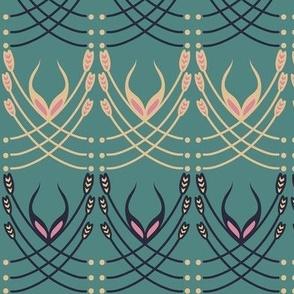 Art Deco Grass Green 11x3-01