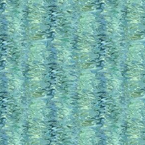 STRM10L - Blending Marbleized Bands of Shifting Shadows in Pastel Green and Teal