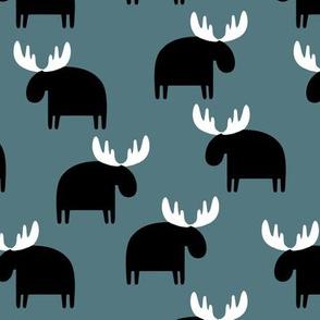 Moose on blue