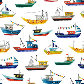 cute painted boats