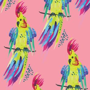 Tropical Papagaio Candy Pink