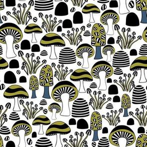 Mushroom Stripes Avocado
