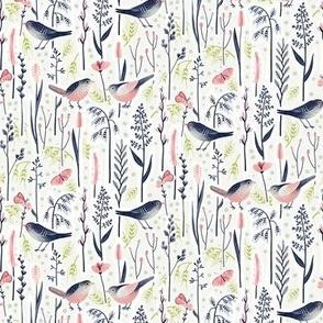Bird Love in Grass / Tiny Scale