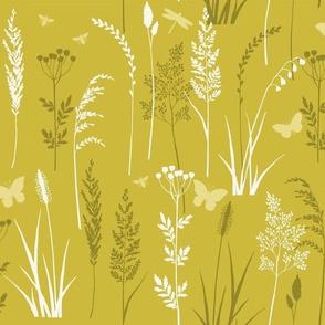 Wild grasses - green