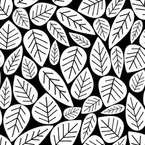 Bold Leaves Black