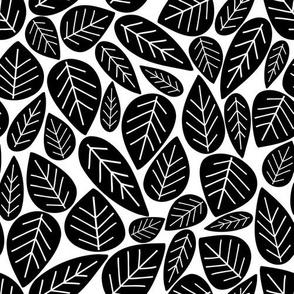 Bold Leaves White
