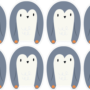 "Yard of Penguins 54"" x 36"""