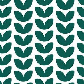 Knit Vine White and Emerald