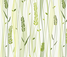 wild grasses - stylized leaves - shades of green