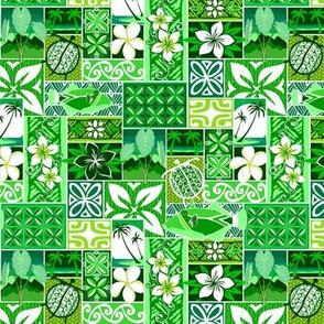 New Hawaiian Motif - green small