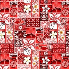 New Hawaiian Motif - red small